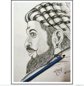 Excellent Shivaji Maharaj Pencil Sketch Techniques Tremendous Pencil Sketch Of Shivaji Maharaj | Desipainters Photo