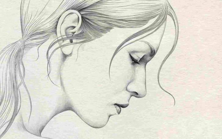 Excellent Simple Pencil Sketches Of Girl Tutorial Simple Sketch Of Girl Face Pencil Sketch Girl Face Rhdrawingslycom Pics