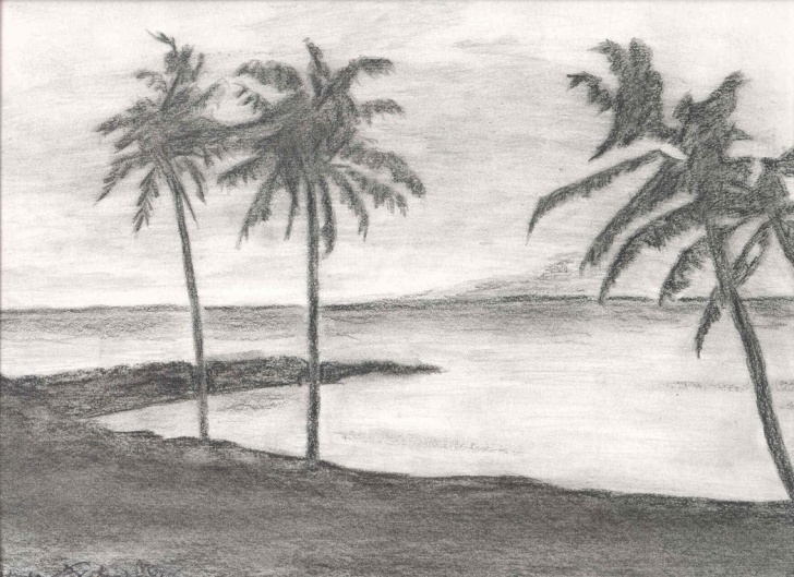 Excellent Simple Scenery Drawing Pencil Free Pencil Sketch Scenery At Paintingvalley | Explore Collection Of Images