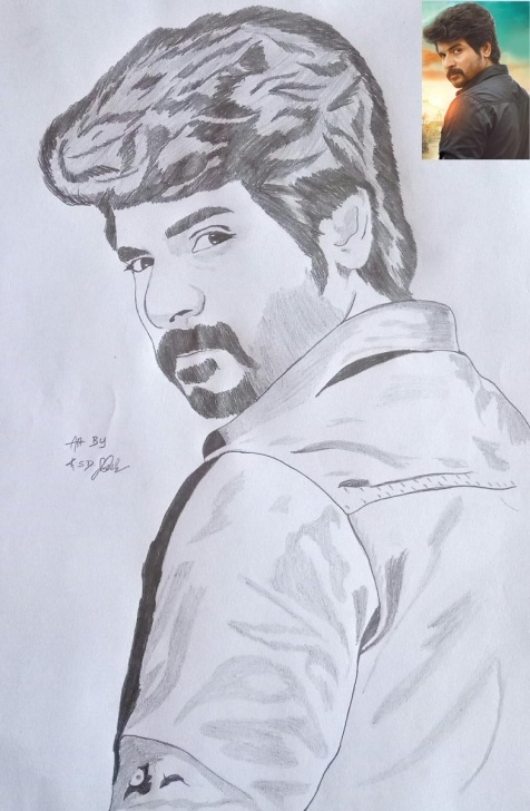 "Excellent Sivakarthikeyan Pencil Drawing Tutorials Ksd_Umesh On Twitter: ""my Pencil Sketch For The Most Talented Actor Picture"