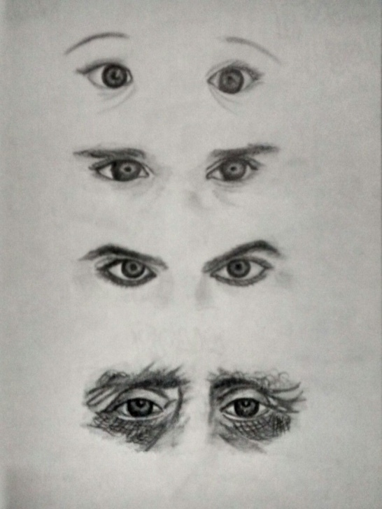 Excellent Small Pencil Drawings Techniques for Beginners My Small Piece Of #pencil Sketch . #evolution_Of_Eyes | Pencil Photo
