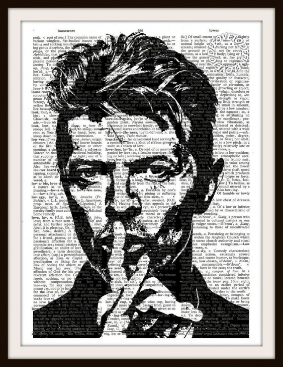 Excellent Stencil Printing Artists Easy David Bowie Silhouette Vintage Dictionary Art By Lovetodefine Pictures