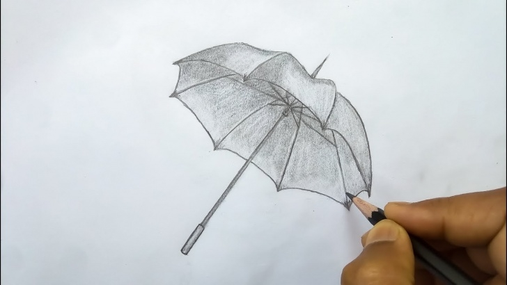 Excellent Umbrella Pencil Drawing Tutorial How To Draw An Umbrella - Easy Pencil Sketch Drawing - (Easy Draw) Images