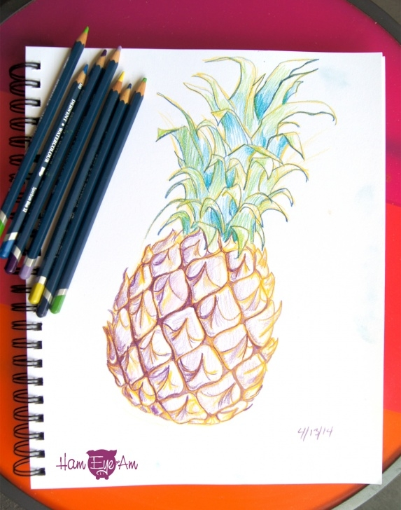 Excellent Watercolor Pencil Projects Tutorial Watercolor Pencil Pineapple – Ham Eye Am Pic