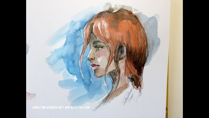 Excellent Watercolor Sketch Pencil Courses 15 Min Watercolor And Pencil Sketch Book Face Painting Demo From Imagination Pictures