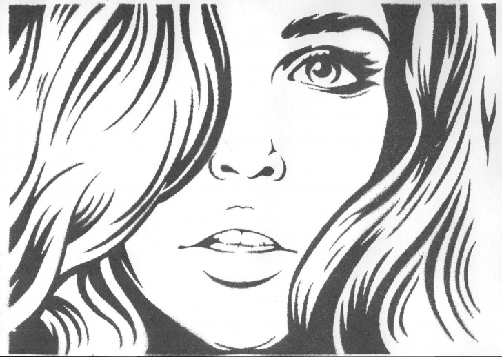 Excellent Woman Stencil Art Simple Beautiful Girl By Shvepseg.deviantart On @deviantart | Stencils Pics