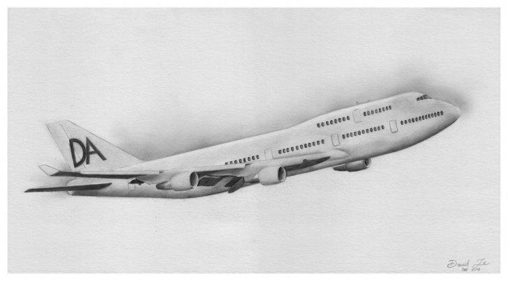Fantastic Aeroplane Pencil Sketch Simple On The Wing By David Te - Pencil Drawing | Art In 2019 | Airplane Pics