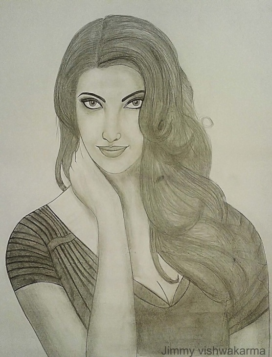 Fantastic Aishwarya Rai Pencil Sketch Simple Pencil Sketch Of Aishwarya Rai Bachchan By Jimmy Vishwakar… | Flickr Image