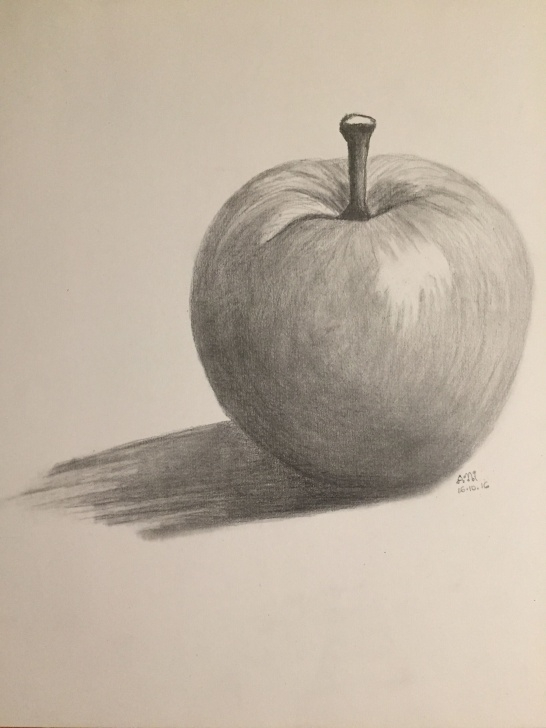 Fantastic Apple Pencil Shading Courses Pencil Art | Pencil Shading In 2019 | Pencil Drawings, Pencil Art Image