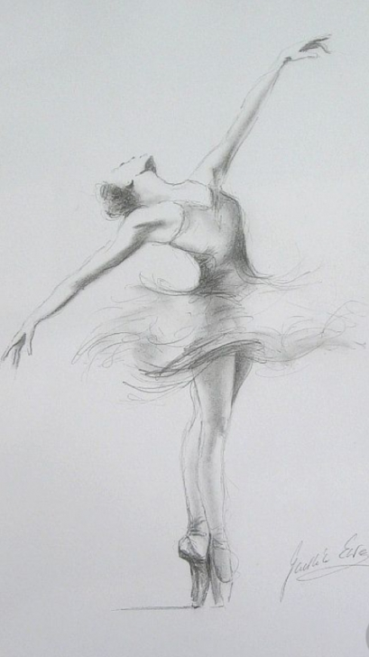Fantastic Ballerina Pencil Drawing Simple Sketch Of A Ballerina | Art In 2019 | Pencil Drawings, Drawings Pictures
