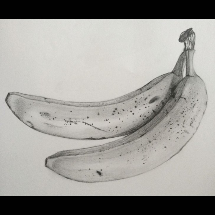 Fantastic Banana Pencil Drawing Courses Banana Drawing | Things I Want To Draw In 2019 | Drawings, Pencil Pics