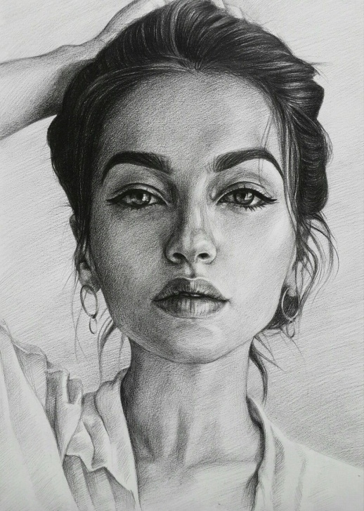 Fantastic Beautiful Portrait Sketches Tutorials Beautiful Portrait Drawing By Lika Sunik #art #illustration #draw Pics