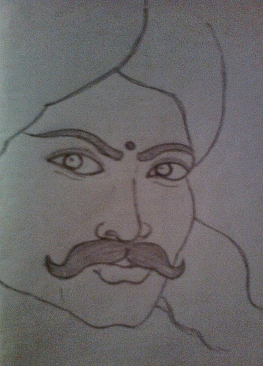 Fantastic Bharathiyar Pencil Drawing Ideas Sivasankaran's Pencil Sketch Blog: Bharathiyar – Social Reformer Photo