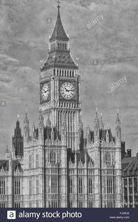 Fantastic Big Ben Pencil Drawing Simple Pencil Sketch Of Houses Of Parliament And Big Ben. London, England Pics