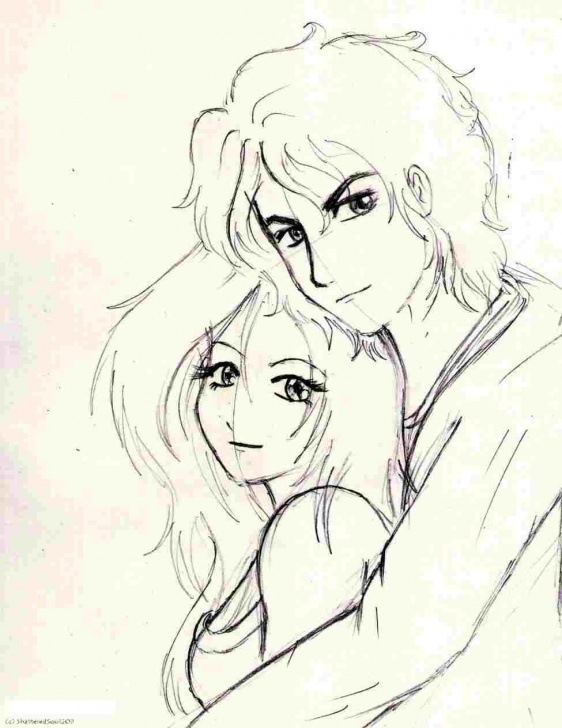 Fantastic Boy And Girl Pencil Sketch Free Drawing Of Boy And Girl In Love Pic