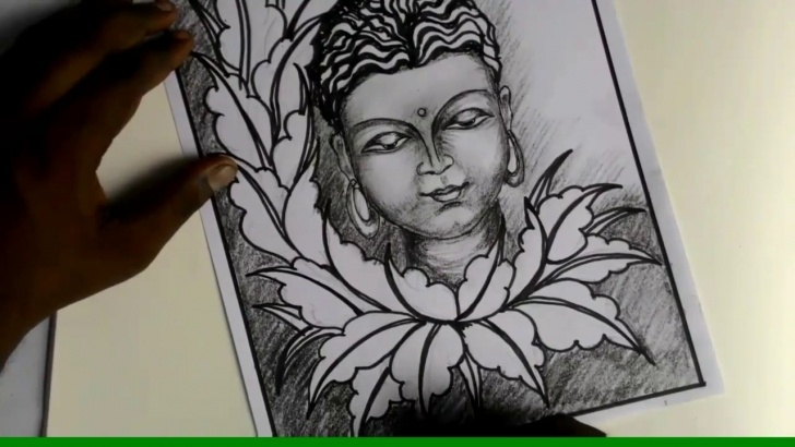 Buddha Pencil Drawing