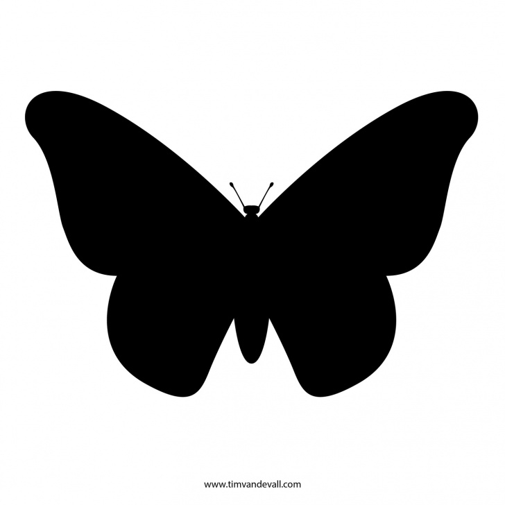 Fantastic Butterfly Stencil Art Free Free Butterfly Stencil | Monarch Butterfly Outline And Silhouette Images