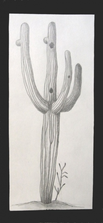 "Fantastic Cactus Pencil Drawing Courses Saguaro Cactus Pencil Drawing 4""x8"". $20.00, Via Etsy. #art #cactus Photo"