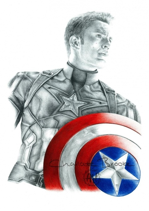 Fantastic Captain America Pencil Sketch for Beginners Captain America Pencil Portrait Drawing Print Photos