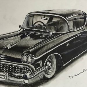 Fantastic Car Pencil Art Ideas Vintage Car Pencil Drawing | How To Draw A Car With Pencil | P V Hanumanthu  Art Pics
