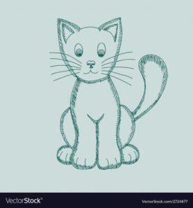 Fantastic Cat Pencil Drawing Techniques for Beginners Cute Pseudo-Pencil Drawing Cat Photos