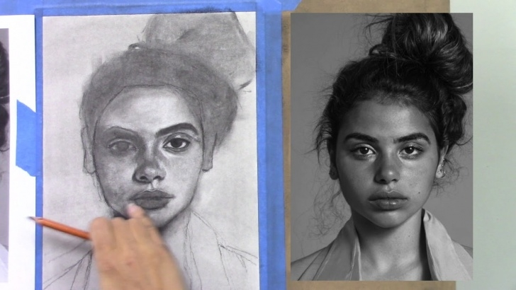 Fantastic Charcoal Drawing Step By Step Step by Step Charcoal Drawing Tutorial - Female Portrait Image