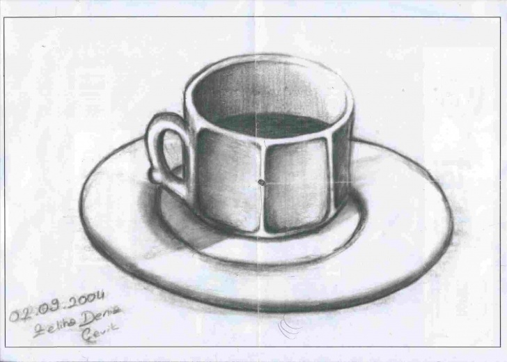 Fantastic Cup And Saucer Pencil Drawing Simple Sart-Pinterest-Rhpinterestcouk-Charcoal-Cup-And-Saucer-Pencil Image