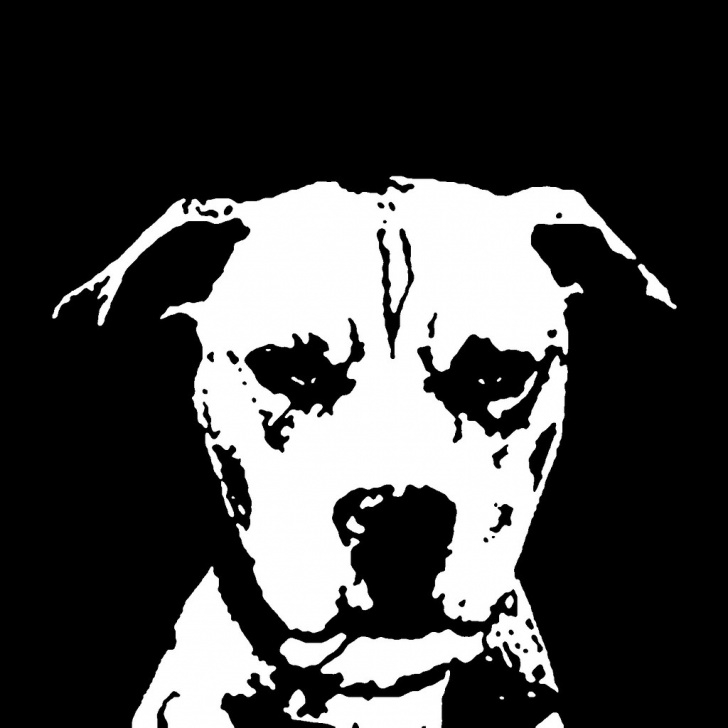 Fantastic Dog Stencil Art Techniques Pitbull Black & White Stencil Dog Art Print | Check Out All … | Flickr Image