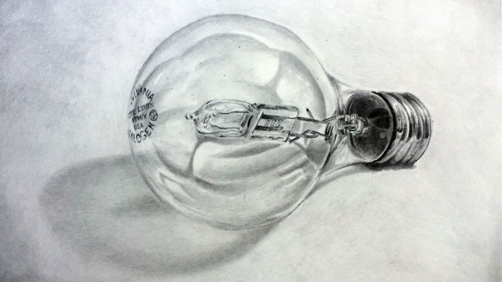 Fantastic Drawing Using Pencil for Beginners How To Draw With Graphite Pencils - Realistic Light Bulb Pictures