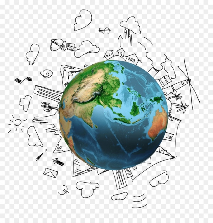 Fantastic Earth Pencil Drawing Lessons Earth Cartoon Drawing Png Download - 2000*2055 - Free Transparent Picture