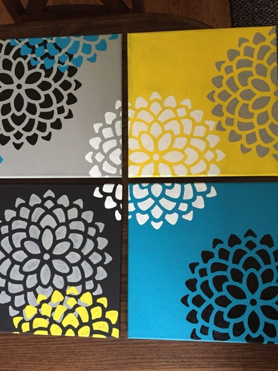 Fantastic Easy Stencil Painting Tutorials Easy Canvas Paintings. Stencil From Michaels And Hand Painted Petals Image