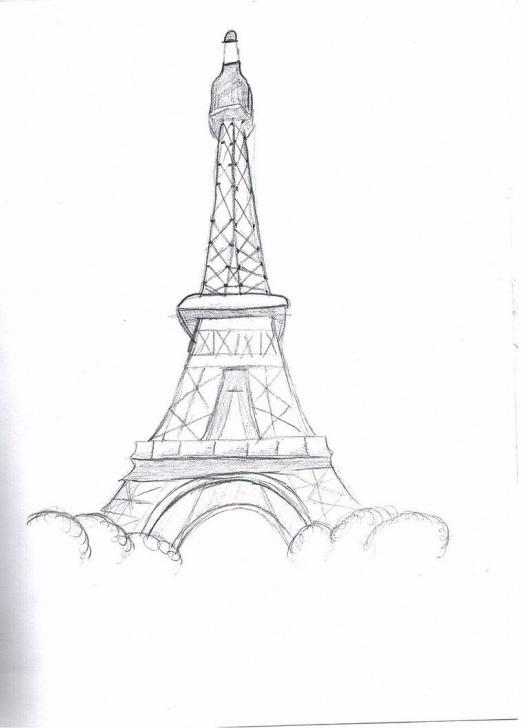 Fantastic Eiffel Tower Pencil Sketch Courses Eiffel Tower Drawings In Pencil | The Eiffel Tower By Bsktballmiaka Pictures