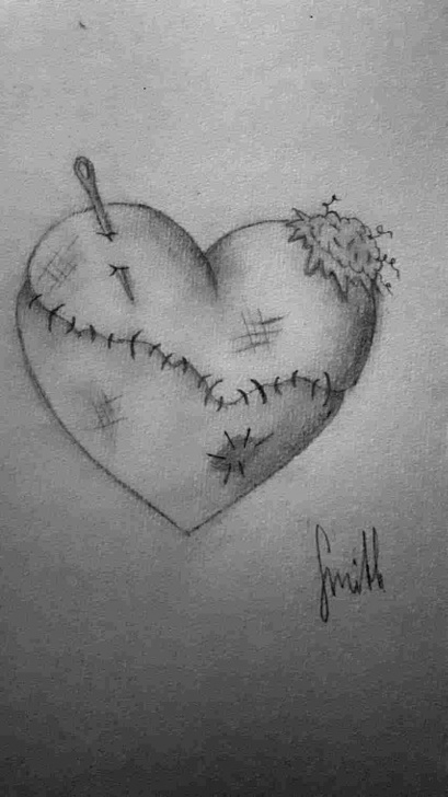 Fantastic Emotional Pencil Drawings Techniques Emotional Broken Heart Sad Drawings Pic