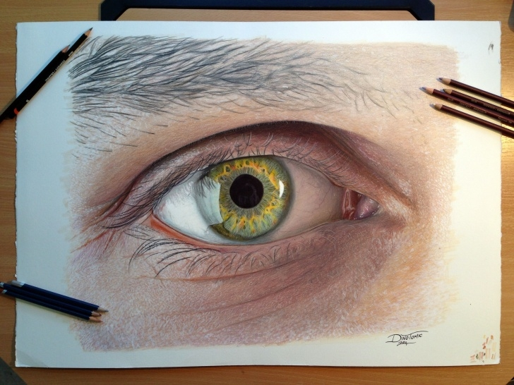 Fantastic Eye Color Pencil Drawing Simple Eye Color Pencil Drawing By Atomiccircus.deviantart On Photo