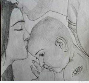 Fantastic Family Pencil Sketch Tutorials Pencil Sketch Of Family Love | Desipainters Picture