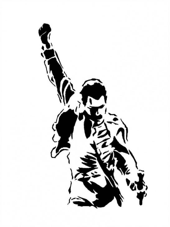 Freddie Mercury Stencil Art