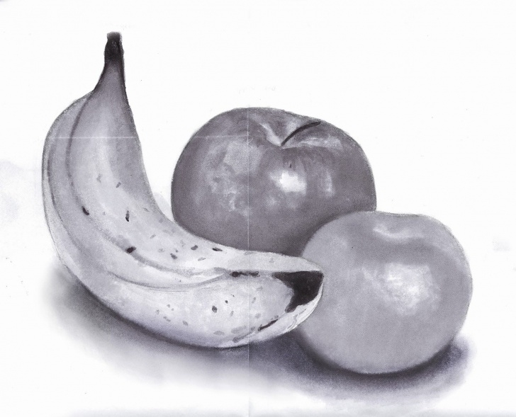 Fruits Pencil Shading