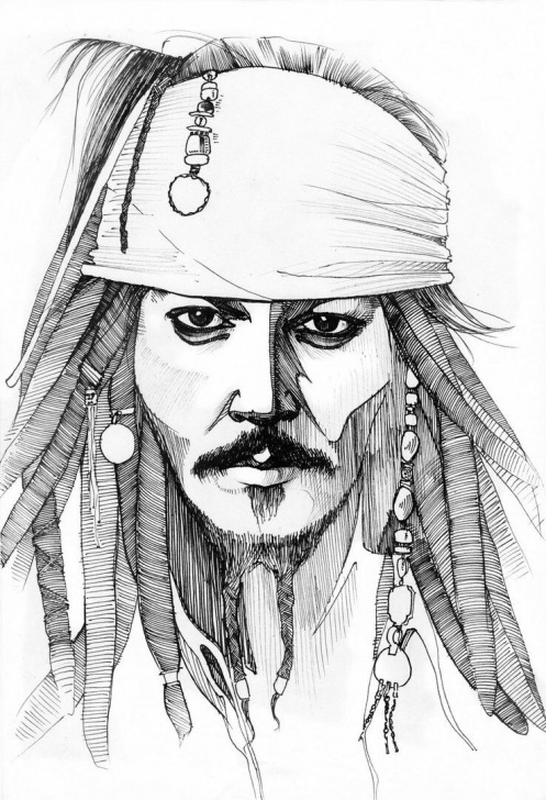 Fantastic Jack Sparrow Pencil Sketch Lessons Sketch Jack Sparrow At Paintingvalley | Explore Collection Of Pic