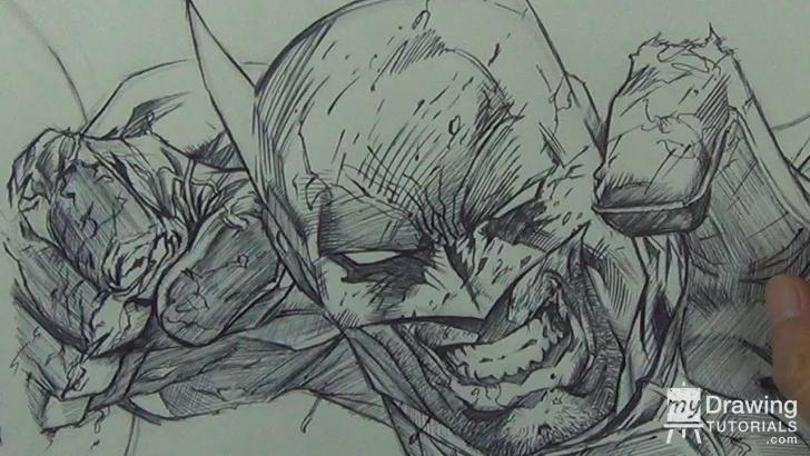 Fantastic Jim Lee Pencil Art Tutorial Drawing Batman In Ballpoint Pen (Jim Lee Comic Book Study) Photos