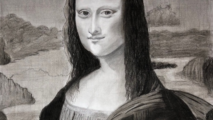 Fantastic Mona Lisa Pencil Drawing Tutorial Realistic Pencil Drawing Mona Lisa | Charcoal Drawing Time Lapse Photo