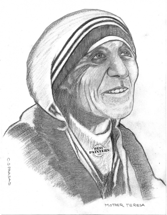 Fantastic Mother Teresa Pencil Sketch Tutorial Pencil Sketches | Pencil Sketch Of Mother Teressa | Projects To Try Pictures