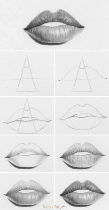 Fantastic Mouth Pencil Drawing Techniques for Beginners How To Draw Lips - 10 Easy Steps | Drawing | Pencil Drawings, Art Picture
