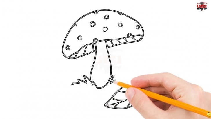 Fantastic Mushroom Drawings Pencil Lessons How To Draw A Mushroom Step By Step Easy For Beginners/kids – Simple  Mushrooms Drawing Tutorial Photo