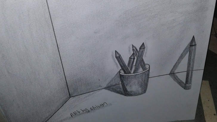Fantastic Pencil Box Sketch Lessons How To Make Easy Shadow Pencil Box Sketch Photo
