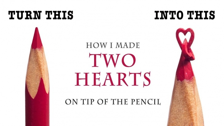 Fantastic Pencil Carving Heart for Beginners I Carve Two Hearts From A Red Color Pencil 2Mm Pics