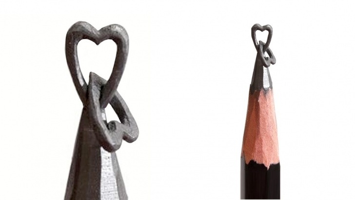 Pencil Carving Heart