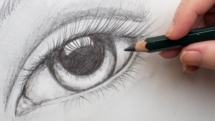 Fantastic Pencil Drawing For Beginners Tutorials Realistic Eye Step By Step Pencil Drawing On Paper For Beginners #aboutface  #3 Images