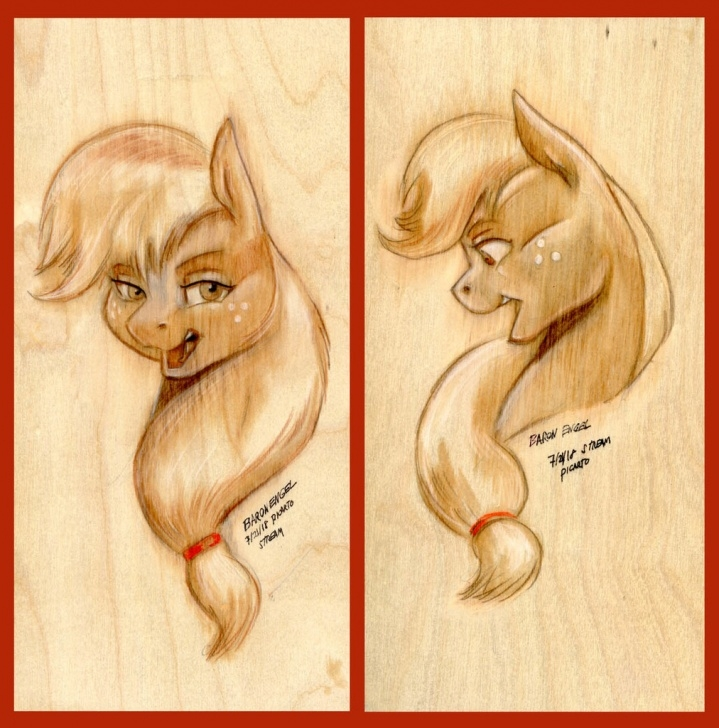 Fantastic Pencil Drawing Projects Free 1787193 - Applejack, Art Challenge, Artist:baron Engel, Bust Pics