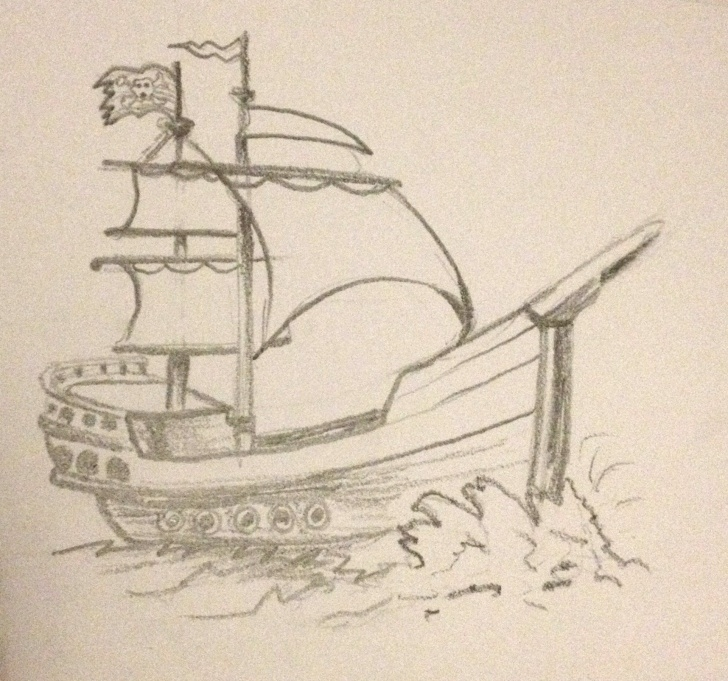 Fantastic Pencil Drawing Ship Lessons Pencil Sketch Pirate Ship | Art Inspiration In 2019 | Sketches, Ship Pics