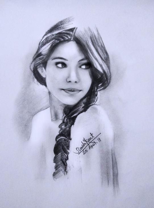Fantastic Pencil Shading Portrait Techniques for Beginners Pencil Shading Portrait Of A Girl #watercolour #lady #face #figure Photo